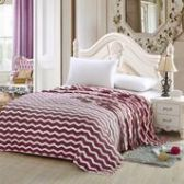 12 Units of Chevron Blankets Full Size In Burgandy - Fleece Blankets / Throws