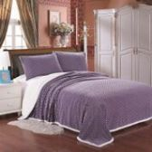 12 Units of Mermaid Oversize Sherpa Blankets Queen Size In Lavender - Micro Mink Sherpa Blankets
