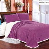12 Units of Mermaid Oversize Sherpa Blankets Queen Size In Mauve - Micro Mink Sherpa Blankets