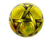 6 Units of Size 5 Metallic Gold & Black Soccer Ball - Balls