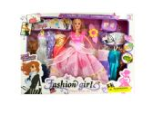 6 Units of Fashion Doll with Large Wardrobe & Accessories - Toy Sets
