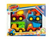 12 Units of Friction Construction Truck Set - Toy Sets