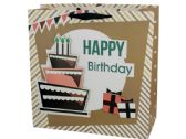 72 Units of Extra Large Happy Birthday Cake Gift Bag - Gift Bags Everyday