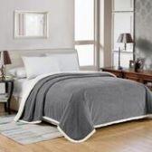 4 Units of Elite Sherpa Blanket Queen Size In Grey - Micro Mink Sherpa Blankets