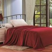 12 Units of Solid Microplush Blanket Twin Size In Burgandy - Micro Plush Blankets