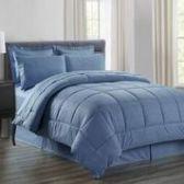 3 Units of 8 Pieces Embossed Vine Comforter Set Queen Size In Ocean Blue - Bedding Sets