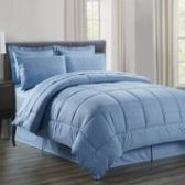 3 Units of 8 Pieces Embossed Vine Comforter Set Queen Size In Slate Blue - Bedding Sets