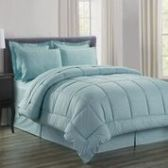 3 Units of 8 Pieces Embossed Vine Comforter Set Queen Size In Turquoise - Bedding Sets