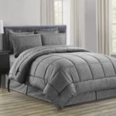 3 Units of 8 Pieces Embossed Vine Comforter Set Queen Size In Grey - Bedding Sets