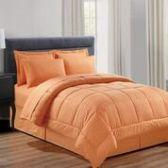 3 Units of 8 Pieces Embossed Vine Comforter Set Queen Size In Orange - Bedding Sets