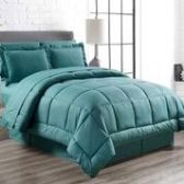 3 Units of 8 Pieces Embossed Vine Comforter Set Queen Size In Teal - Bedding Sets