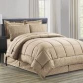 3 Units of 8 Pieces Embossed Vine Comforter Set King Size In Mocha - Bedding Sets