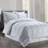 3 Units of 8 Pieces Embossed Vine Comforter Set King Size In White - Bedding Sets