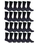 240 Units of Womens Black Crew Socks Size 9-11 Cotton Blend - Womens Crew Sock