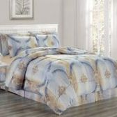 3 Units of 8 Pieces Set Printed Queen Size In Chloe Style - Bedding Sets