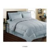 3 Units of 8 Pieces Set Embossed In A Bag Queen Size In Blue - Bedding Sets