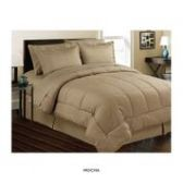 3 Units of 8 Pieces Set Embossed In A Bag Queen Size In Mocha - Bedding Sets