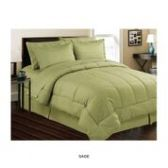 3 Units of 8 Pieces Set Embossed In A Bag Queen Size In Sage - Bedding Sets