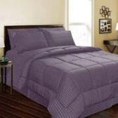 6 Units of 1 Piece Embossed Comforter Queen Size In Plum - Comforters