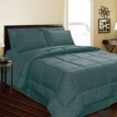 6 Units of 1 Piece Embossed Comforter Queen Size In Teal - Comforters