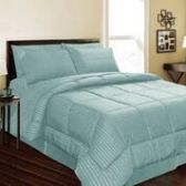 6 Units of 1 Piece Embossed Comforter Queen Size In Turquoise - Comforters