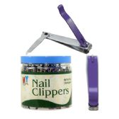 72 Units of Colored Toe Nail Clipper Bucket PDQ (36 clippers) - Manicure / Pedicure Items