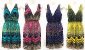 48 Units of Lady's Short Summer Sun Dress Assorted Color Pattern - Womens Sundresses & Fashion