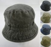 24 Units of Washed Denim Bucket Hat - Bucket Hats