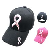 60 Units of Stronger Everyday Pink Ribbon Hat - Baseball Caps/Snap Backs