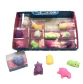 80 Units of Soft and Squishy Toy Mini Animal Fruit Assortment - Plush Toys