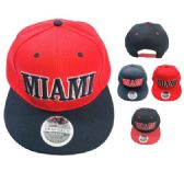 36 Units of Snap Back Flat Bill Hat MIAMI - Baseball Caps/Snap Backs