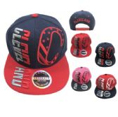 36 Units of Snap Back Flat Bill CLEVELAND Stars Stripes C - Baseball Caps/Snap Backs