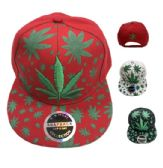 664c0df6623 36 Units of Snap Back Flat Bill Embroidered Printed Marijuana Hat - Baseball  Caps   Snap