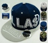 24 Units of Snap Back Flat Bill DALLAS Block Letters - Baseball Caps/Snap Backs