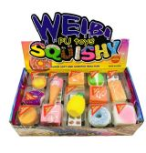 60 Units of Slow Rising Squishy Toy Key Chain Assortment - Key Chains