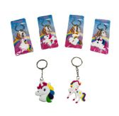 120 Units of Silicone Unicorn Key Chain - Key Chains