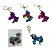 96 Units of Reversible Sequin Key Chain Unicorn - Key Chains
