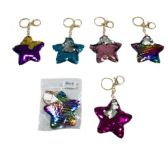96 Units of Reversible Sequin Key Chain Star - Key Chains