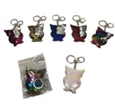 96 Units of Reversible Sequin Key Chain Owl - Key Chains