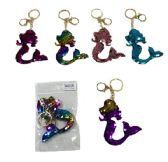 96 Units of Reversible Sequin Key Chain Mermaid - Key Chains