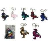 96 Units of Reversible Sequin Key Chain Flamingo - Key Chains