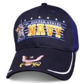 12 Units of Licensed Navy Ball Cap Eagle Horizon - Baseball Caps/Snap Backs