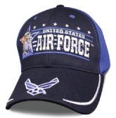 12 Units of Licensed Air Force Ball Cap Eagle Horizon - Baseball Caps/Snap Backs
