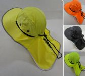 12 Units of Legionnaires Hat Solid Color with Mesh Sides Neon/Black - Hunting Caps