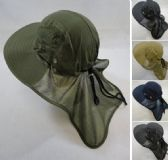 12 Units of Legionnaires Hat Solid Color with Mesh Sides Mesh Flap - Hunting Caps