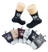 48 Units of Ladies Fashion Socks Flower Gems Sparkle - Womens Knee Highs