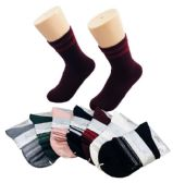 48 Units of Ladies Fashion Socks Double Sparkle Edge - Womens Crew Sock