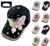 24 Units of Ladies Bling Hat with Sequin Butterfly Dragonfly - Womens Knee Highs