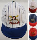 60 Units of Infant Pinstripe Baseball Hat ROOKIE - Baby Apparel