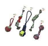 48 Units of Dog Rope and Tug Toy Assortment - Pet Toys